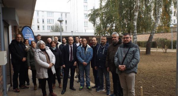 Les partenaires du projet de chantier d'insertion pour l'embellissement du patio au Pont du routoir à Guyancourt