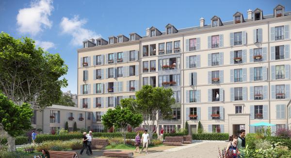 Perspective résidence Saint Médéric - VH / OGIC