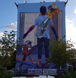Fresque JADE RIVERA Résidence Bernard de Jussieu Versailles octobre 2019