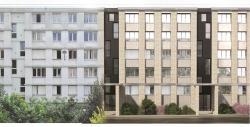 Façade d'un bâtiment Résidence Bernard de Jussieu : AVANT(à gauche) et APRES Travaux (à droite)