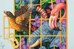 fresque de l'artiste roumain SADDO quartier Bernard de Jussieu / Versailles Habitat