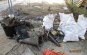 Nettoyage du bassin Résidence Richard Mique : objets divers récupérés au fond