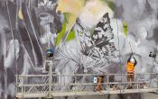 Fresque de l'artiste français MANTRA, quartier Bernard de Jussieu Versailles