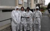 Les 4 jeunes en route vers l'emploi des quartiers de Versailles Habitat chantiers Vacances 2016