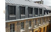 Bâtiment Passage des deux portes : la toiture rénovée (septembre 2015)