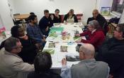 réunion de concertation avec les locataires pour l'élaboration du projet d'embellissement du patio