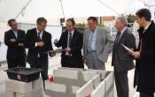 Eric Le Coz, DG de Versailles Habitat, pose une première pierre de la résidence Grand Angle à Viroflay